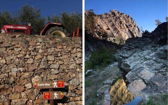detalhes da paisagem da aldeia