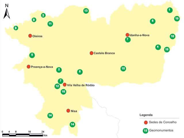 mapa do Geopark