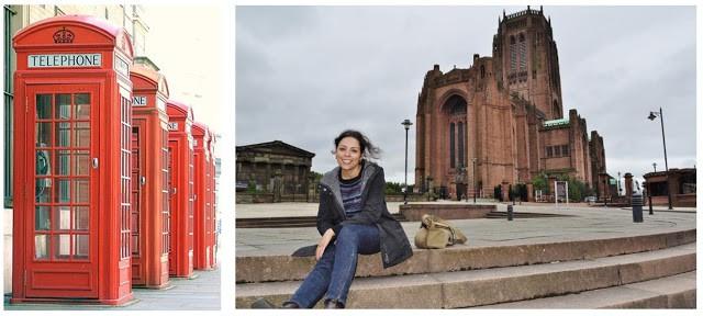 Junto da Catedral Anglicana de Liverpool