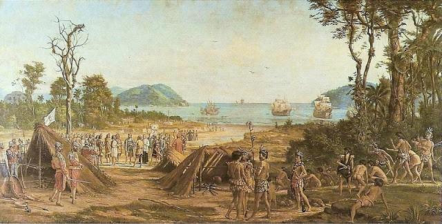 A tela de Benedito Calixto, sobre a fundação da vila de S. Vicente