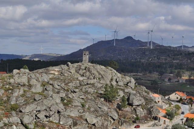 paisagem desde o castelo de Sortelha
