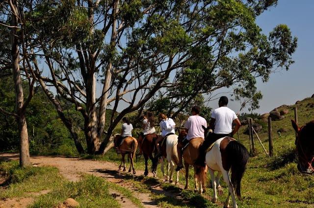 passeio de cavalo em Itu (S. Paulo)