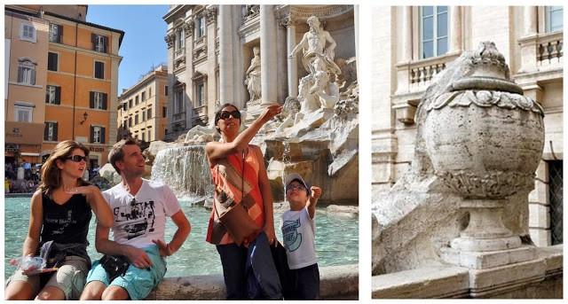 lançar uma moeda na Fontana di Trevi