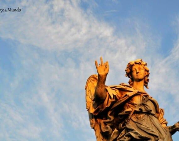 Anjo de Bernini na Ponte Sant'Angelo