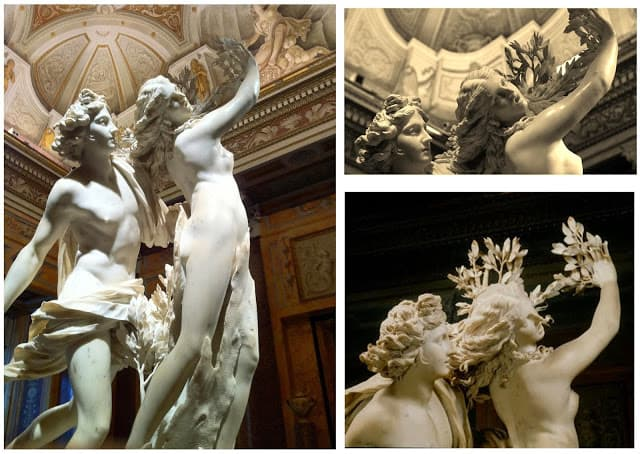 Apolo e Dafne, esculpidos por Bernini