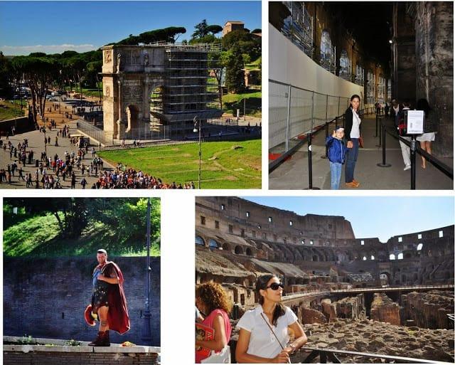 Entrada e pormenores do Coliseu