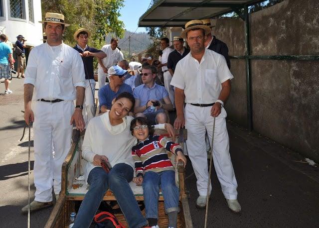 Carros do monte na Madeira