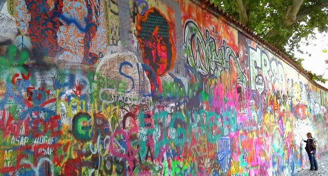 Muro de John Lennon em Mála Strana