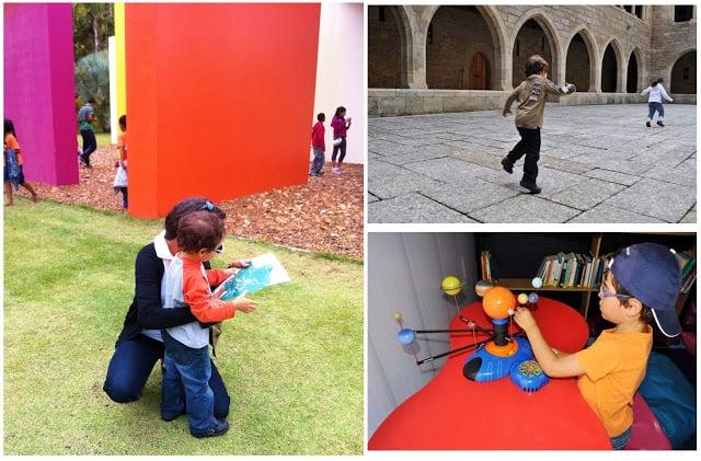 Crianças a explorarem o mundo