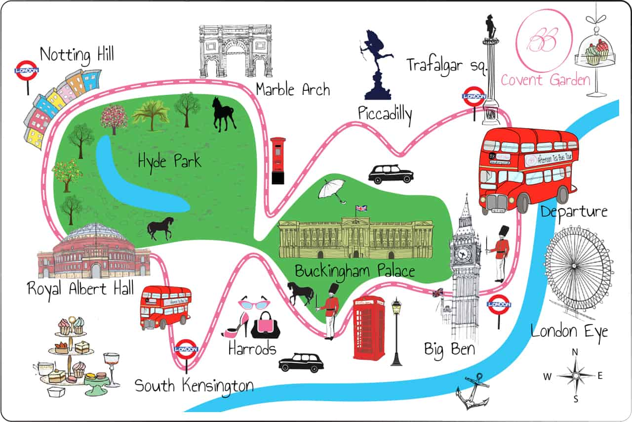 percurso do tea bus tour
