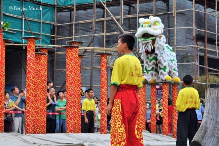 dança do Leão em Foshan