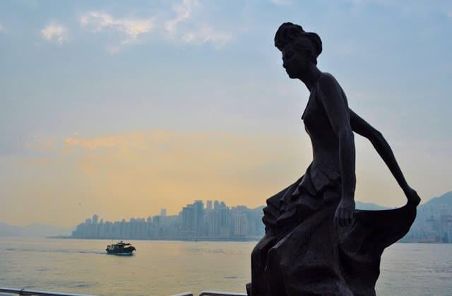 Avenida da Fama em Hong Kong