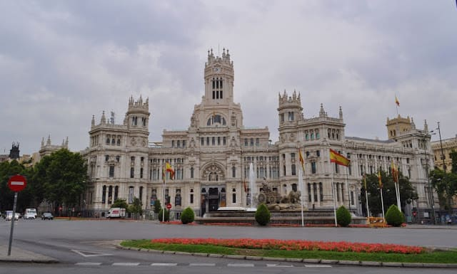 Praça de Cibeles em Madrid