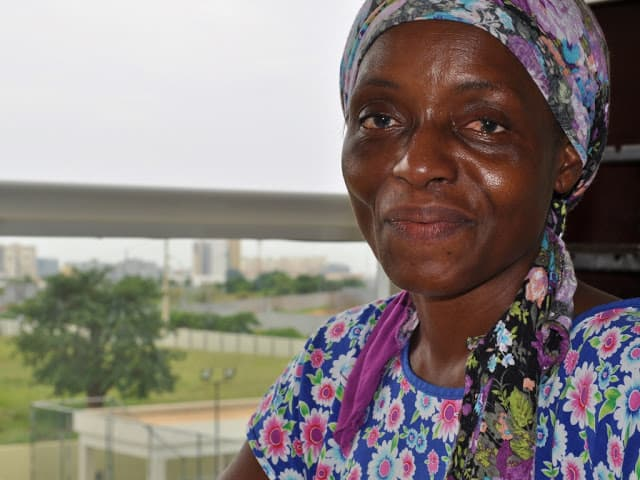 Uma mulher angolana