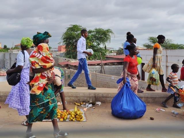 ruas de Luanda em Angola