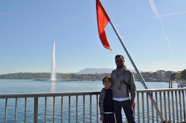 Jet d'Eau no lago de Genebra