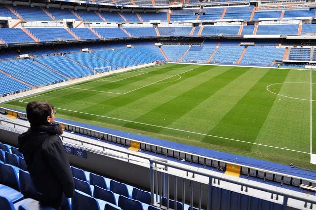 visita ao estádio Santiago Bernabéu
