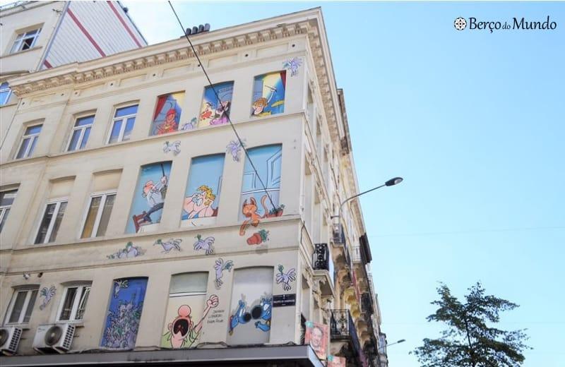 comic route em Bruxelas