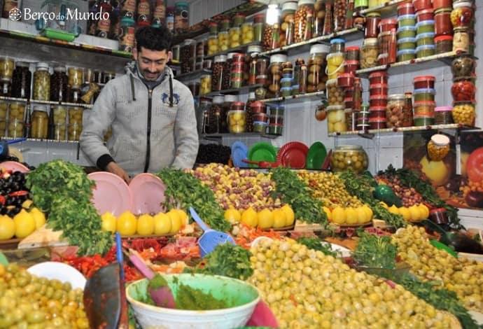 As azeitonas estão muito presentes na cozinha marroquina