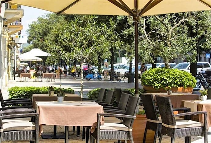 esplanada do hotel em Verona