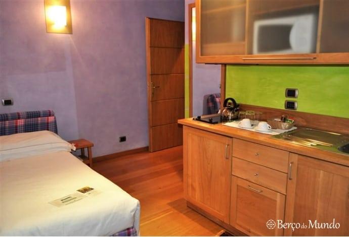 um apartamento familiar facilitou a estadia em Verona
