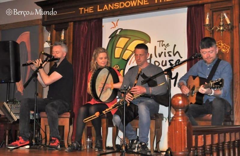 Música tradicional irlandesa em Dublin