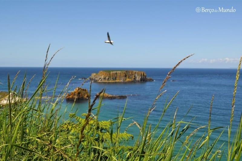 vista na costa de Antrim