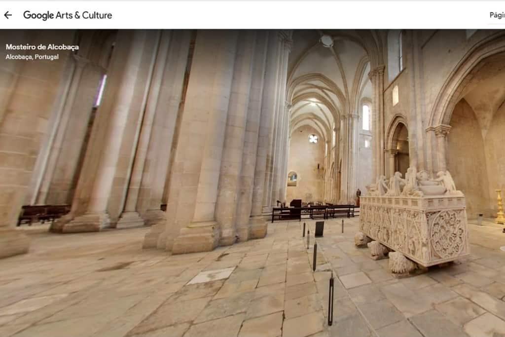 Alcobaça online com o google arts & culture