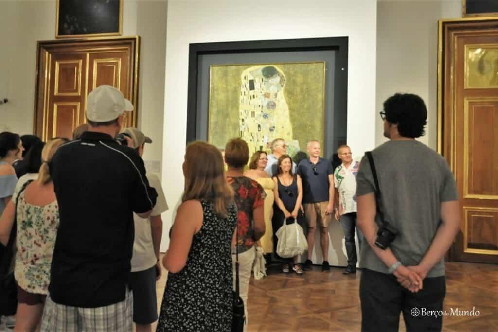 O Beijo é uma das pinturas famosas do Ocidente