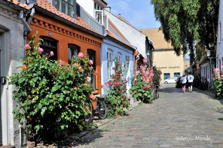 rua Mollestien em Aarhus na Dinamarca