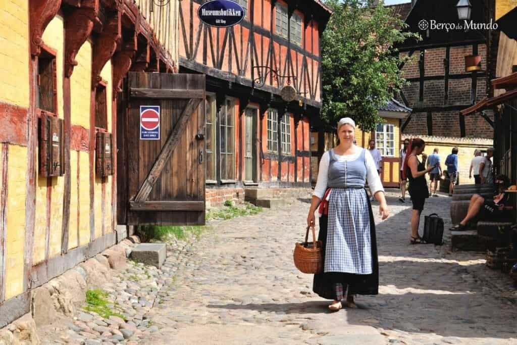 Old town em Aarhus na Dinamarca