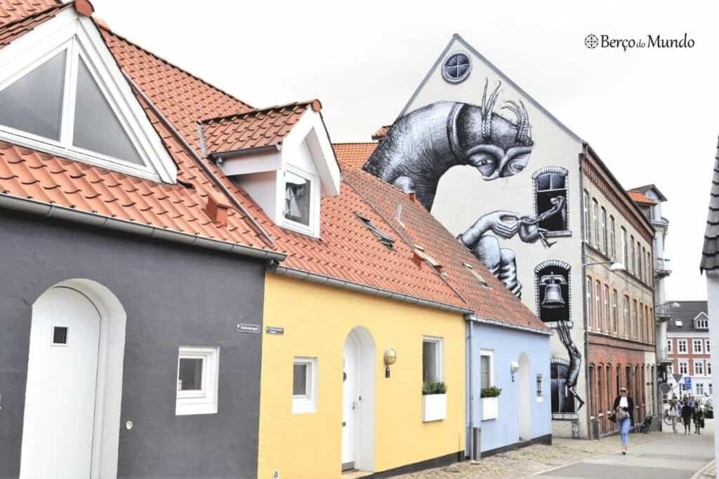 street art em Aalborg, Dinamarca